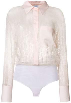 Dondup sheer lace shirt