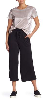 Kensie Ribbed Knit Wide Leg Drawstring Pants
