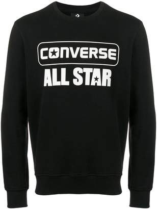 Converse logo print sweatshirt