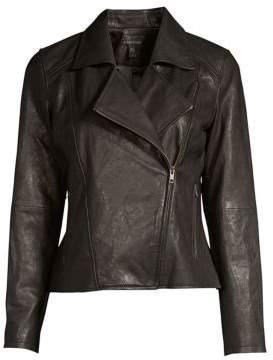 Eileen Fisher Zip-Up Moto Jacket