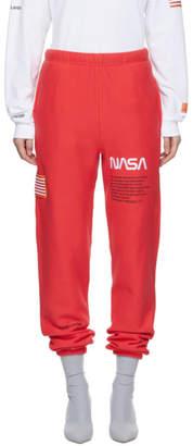 Heron Preston Red Fleece Lounge Pants