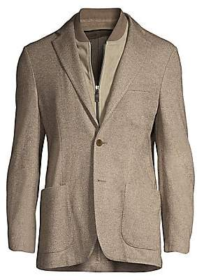 Corneliani Men's Solid Twill Single-Breasted Jacket