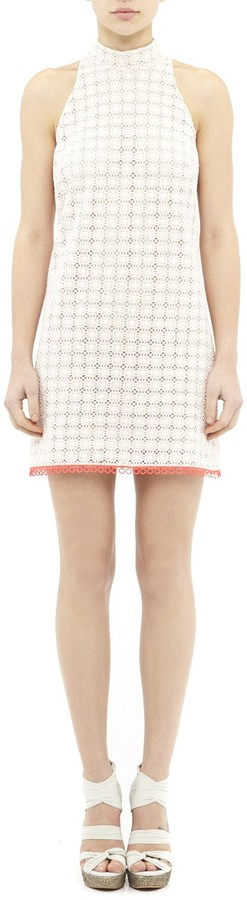 Nicole Miller Pixelated Lace Dress