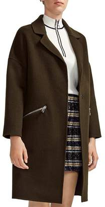 Maje Grimala Wool & Cotton Coat