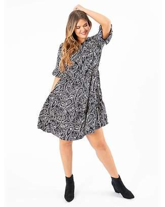 Koko Paisley Print Skater Dress