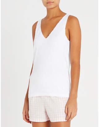The White Company Lace-trim cotton-jersey vest