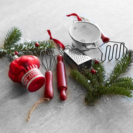 Sur La Table Kitchen Prep Ornaments, Set of 6