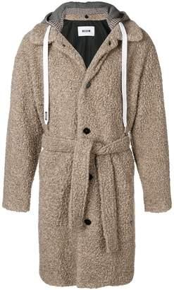 MSGM hooded coat