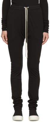 Rick Owens Black Double Leggings Lounge Pants