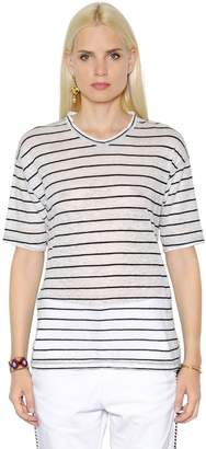 Etoile Isabel Marant Striped Cotton & Linen Blend T-Shirt