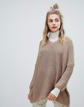 Noisy May deep v-neck oversize sweater