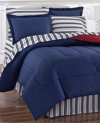 Fairfield Square Collection Navy Yard Reversible 8-Piece California King Bedding Ensemble Bedding