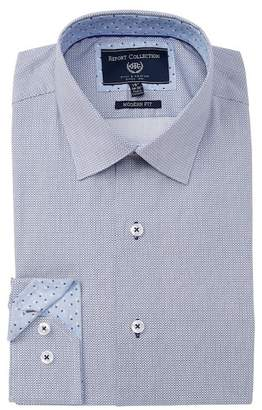 Report Collection Geo Print Modern Fit Dress Shirt