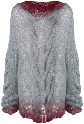 Ann Demeulemeester chunky cable knit sweater