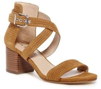 Via Spiga Jobina Textured Suede Block Heel Sandal