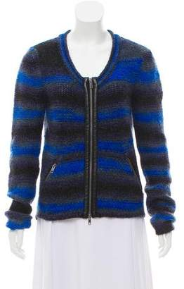Yigal Azrouel Cut25 by Striped Wool Cardigan