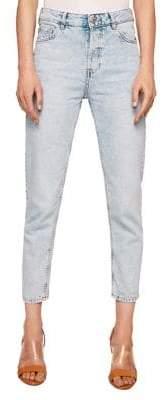 MANGO Mom High-Waist Cropped Jeans