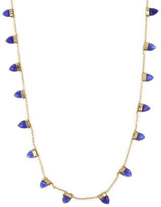 Forever Creations USA Inc. 18K Gold Vermeil Sapphire Horn Necklace