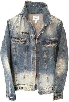 Bel Air Blue Denim - Jeans Leather Jacket for Women