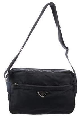 1944a91347 Prada Leather-Trimmed Tessuto Crossbody Bag