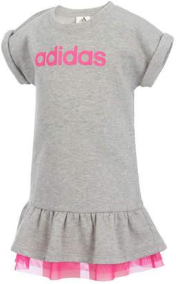 adidas Heathered Mesh-Hem Dress, Toddler Girls