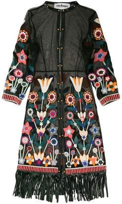 Tropez Caban Romantic St semi-sheer floral kimono