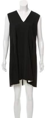 Balenciaga Sleeveless V-Neck Mini Dress Black Sleeveless V-Neck Mini Dress