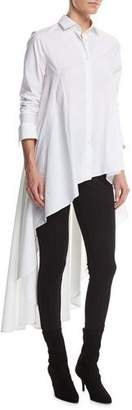 Palmer Harding palmer//harding Long Button-Front Poplin Super Shirt