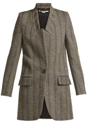 Stella McCartney Bryce Single Breasted Wool Blend Coat - Womens - Grey