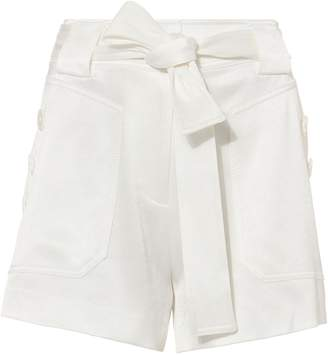Derek Lam 10 Crosby Satin White Shorts