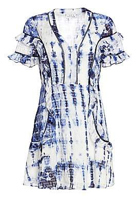 Tanya Taylor Women's Rhett Short Sleeve Tie-Dye Dress - Size 0
