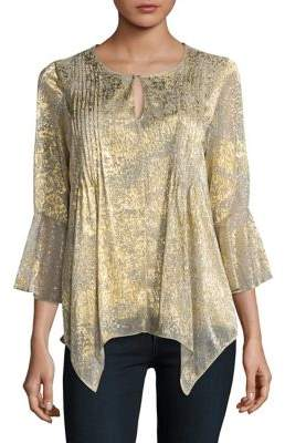 T Tahari Kate Roundneck Blouse