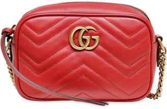 Gucci Mini Gg Marmont 2.0 Leather Camera Bag