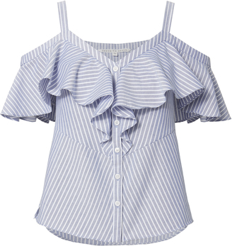 Veronica Beard Grant Cold Shoulder Top $250 thestylecure.com