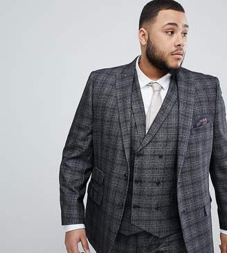 Jacamo Slim Fit Suit Jacket In Gray Check