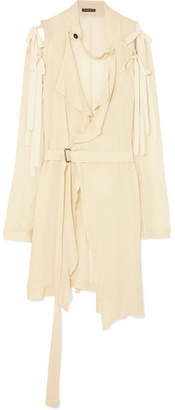 Ann Demeulemeester Deconstructed Gauze Top - Cream