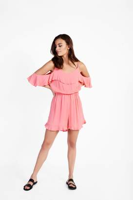 Glamorous **Cold Shoulder Playsuit by Tall