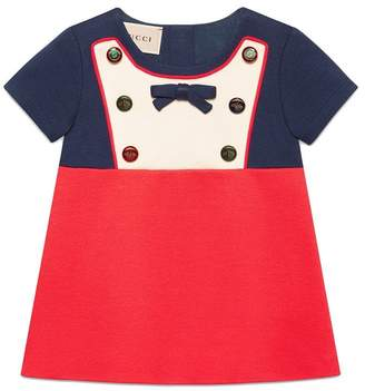 Gucci Kids Baby jersey dress with mixed buttons