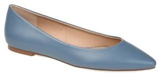 Brinley Co. Womens Almond Toe Ballet Flat