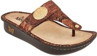 Alegria Leather Thong Sandals w/ Adj. Strap - Carina