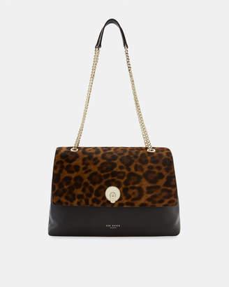 26b21dc194a9 Ted Baker LAILLA Leopard circle lock leather shoulder bag