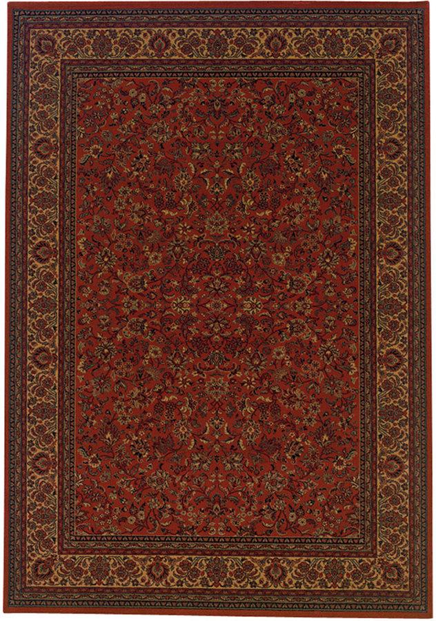 "CouristanCouristan Area Rug, Everest Isfahan Crimson 3' 11"" Octagon"