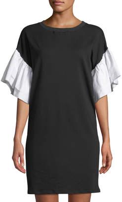 Gracia Tiered-Sleeve Jersey Dress
