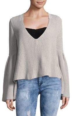 Free People Damsel Cotton Pullover Sweater