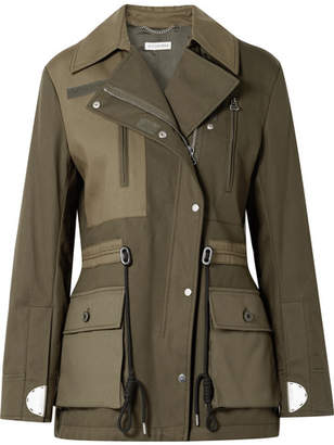 Altuzarra Chet Quilted Shell-paneled Cotton-twill Jacket - Army green
