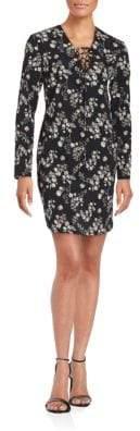 Amanda Uprichard Long Sleeve Floral Printed Dress