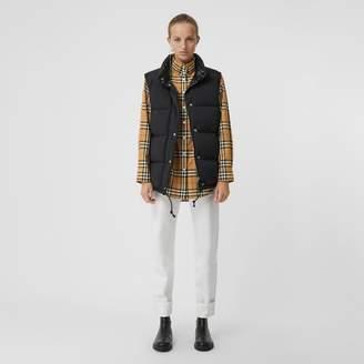 Burberry Stand Collar Vintage Check Cotton Shirt