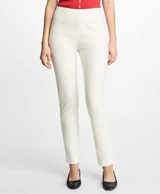 Brooks Brothers High-Waist Stretch-Cotton Pants