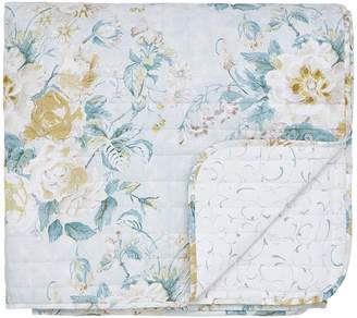 Sanderson Giselle Quilted Bedspread - Duck Egg