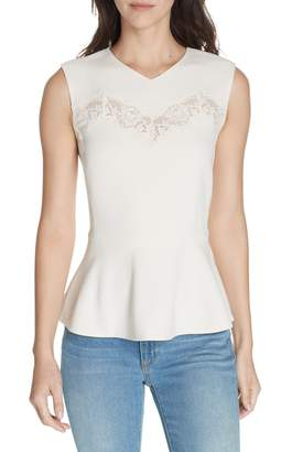 Rebecca Taylor Sleeveless Peplum Top